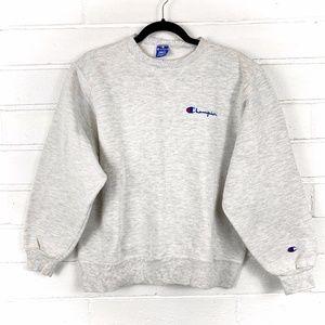 Vintage Champion CrewNeck & cuff gray Sweatshirt